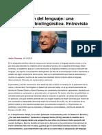 Chomsky, N. La Evolución Del Lenguaje Una Perspectiva Biolingüística
