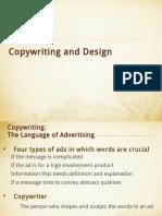 Copywriting and Design