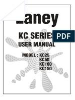 Laney KC25-50-100-150 Manual - 1996 - Issue 1
