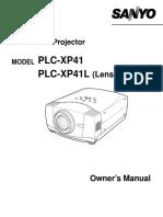 Sanyo Plc Xp41 Manual