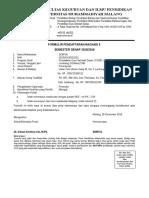 Formulir Pendaftaftaran Magang II Genap 2016