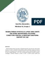 Reabilitarea Estetica a Lipsei Unui Dinte Din Zona Anterioara Folosind Conectori Pentru a Mentine Diastema (1)