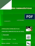 Operações farmaceuticas