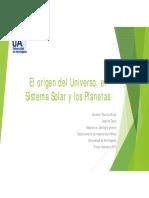 El Origen Del Universo, El Sistema Solar