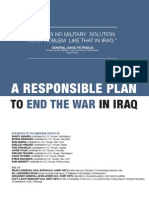 A Responsible Plan to End War in Iraq