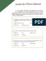 Modelo de Encuesta Laboral EMPRESARIAL