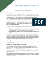 Metodología Para La Gestión de Las Relaciones Con Los Clientes
