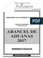 Arancel de Aduanas 2017