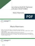 Maria Altamirano ISO TS 9002