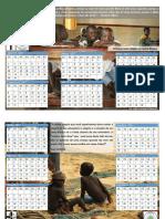 Calendário 2017 Crianças Missões