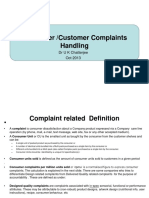 Consumer Customer Complain Handling