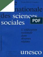 L'Édification Nationale Dans Diverses Régions, UNESCO, 1971