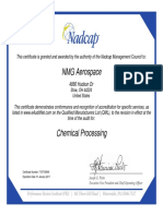NADCAP Chemical Paint MPD Ohio Certificate