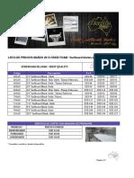 Lista de Precios Oside Marzo 2013 - Blanks y Accesorios