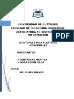 Auditoria en Pica Plasticos Industriales