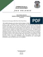 Danielle Stislicki Press Release