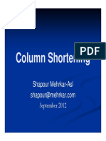 Column Shortening