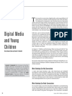 Digital Media and Young Children