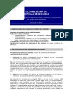 Clorhexidina Esponja HBA 03 2012