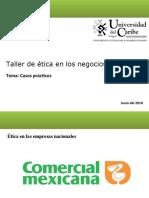 Valores éticos de Comercial Méxicana