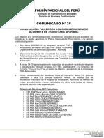 COMUNICADO PNP N° 35 - 2016