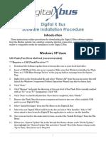 Digitalxbus Software Install Instructions v1.2