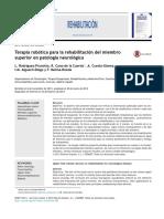 Terapia Rob Tica Para La Rehabilitaci n Del Miembro Superior en Patolog a Neurol Gica 2014 Rehabilitaci n