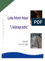 Lycee Artaud Eclairage 2009