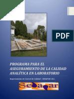 Programa Para El Aseguramiento de La Calidad Analítica en Laboratorio Rev 2015