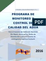 Programa de Monitoreo y Control de Calidad Del Agua 2016