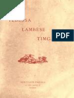 Ballu, 1894, Les Monuments Antiques d'Algerie - Tebessa, Lambese, Timgad