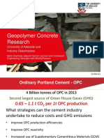Geopolymer Concrete Research_mark Drechsler_ Uni of Adelaide_18.11.14