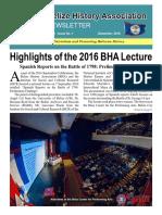 BHA Newsletter December 2016