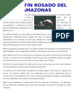 El Delfín Rosado Del Amazonas