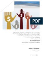 Crowdfunding Analysis of Success Factors for Benelux Projects