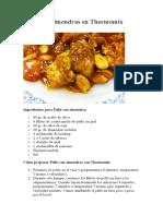 Pollo con almendras en Thermomix.pdf