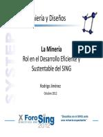 Rol en El Desarrollo Eficiente y Sustentable Del SING