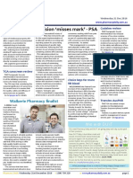 Pharmacy Daily for Wed 21 Dec 2016 - Decision 'misses mark' - PSA, PPA blasts Guild on conflict case, Choice bays for more RB blood, Health