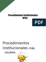 AHO- Procedimientos Institucionales