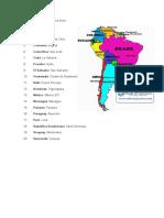 Capitales de America Latina