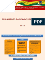 Reglamento Basico de Pre-Inversion