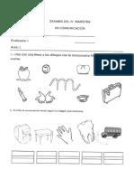 Examen Comunicación San Silvestre 4 Años (1)