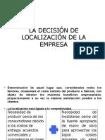 La Decisión de Localización de La Empresa