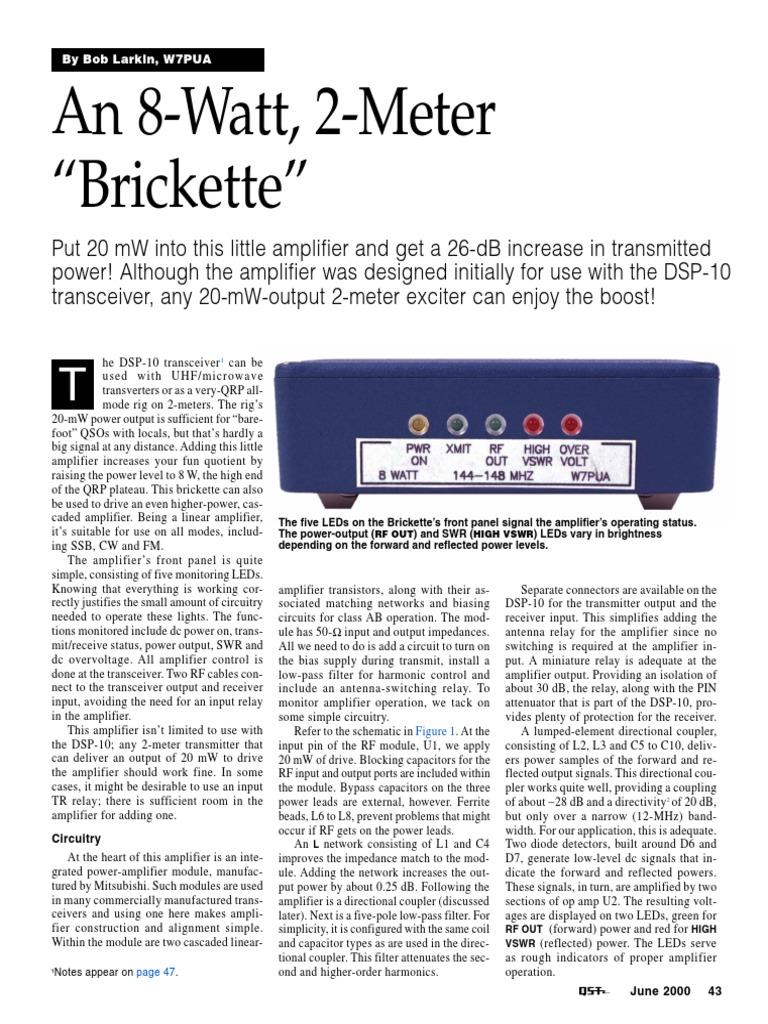 An 8 Watt 2 Meter Amplifier Inductor Active Microphone Preamplifier Using Lf356