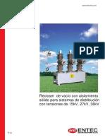 Brochure Solid Recloser Catalog Spanish