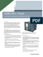 Siprotec 7sl86 v6 Profile