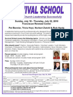 The Casa - Survival School (summer 2010 flyer)