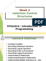 Chapter4-SelectionControlStructure