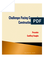 0 - Geoffrey Vaughn Challenges Facing Guyana Construction Sector