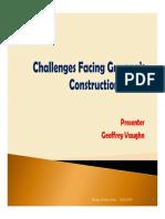 0 - Geoffrey Vaughn Challenges Facing Guyana Construction Sector